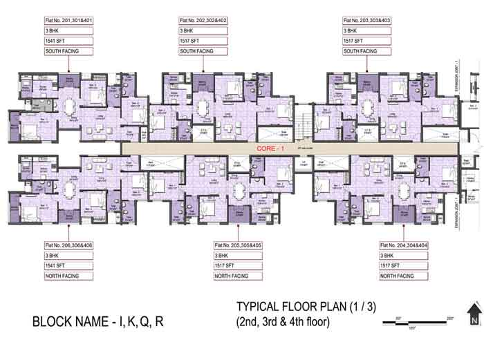 Typical Floor Plan(1-3)